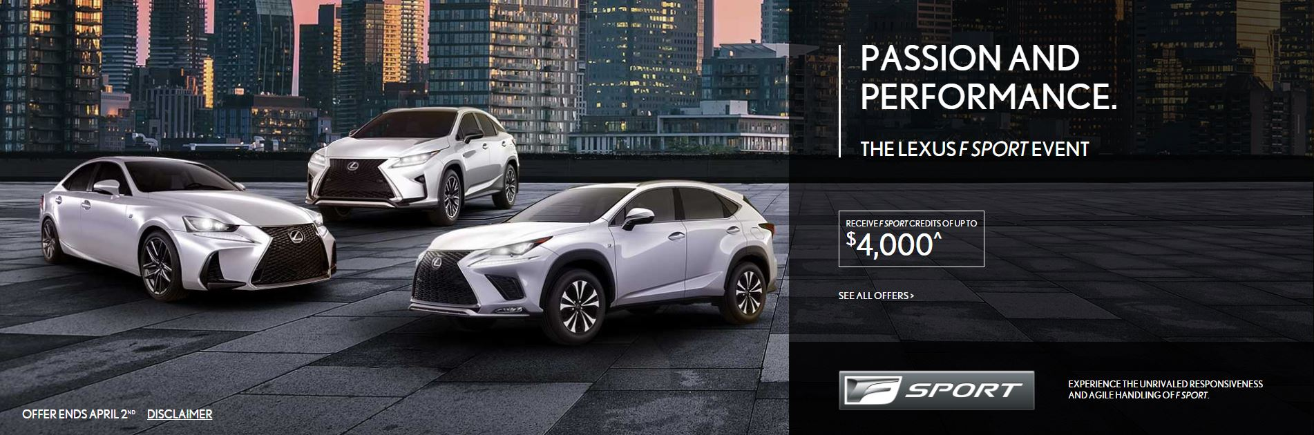 Lexus March Offers F Sport Event image
