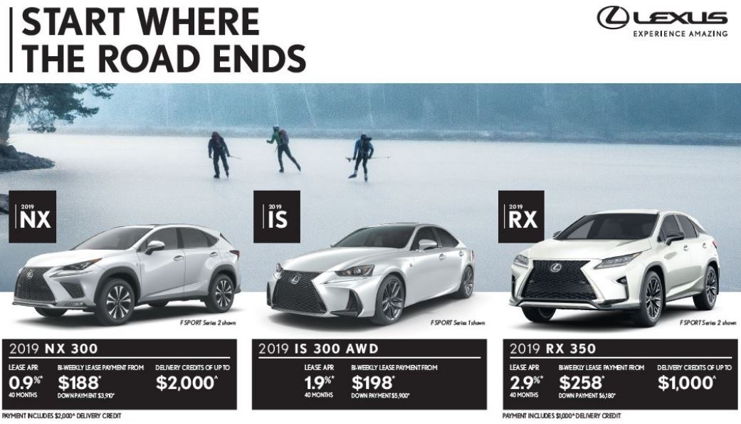 Incentives on New 2018 and 2019 Lexus