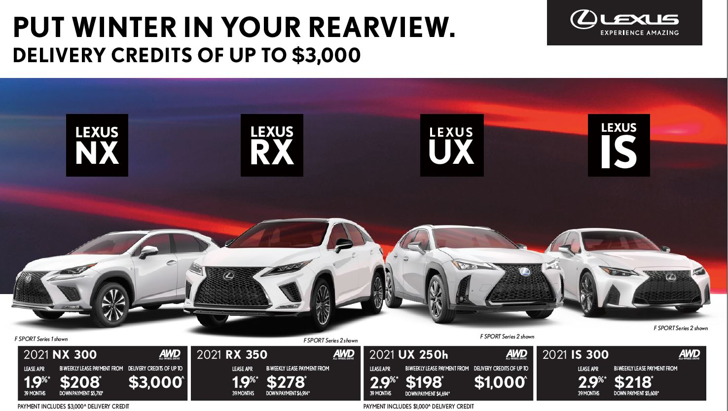 ken shaw lexus march 2021 offers in toronto ontario promotions