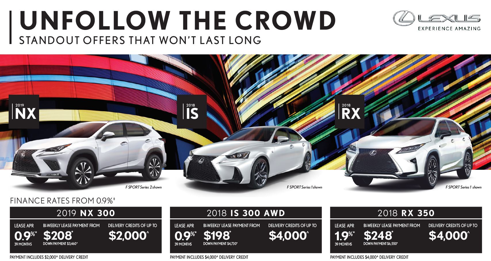 Ken Shaw Lexus in Toronto September offer