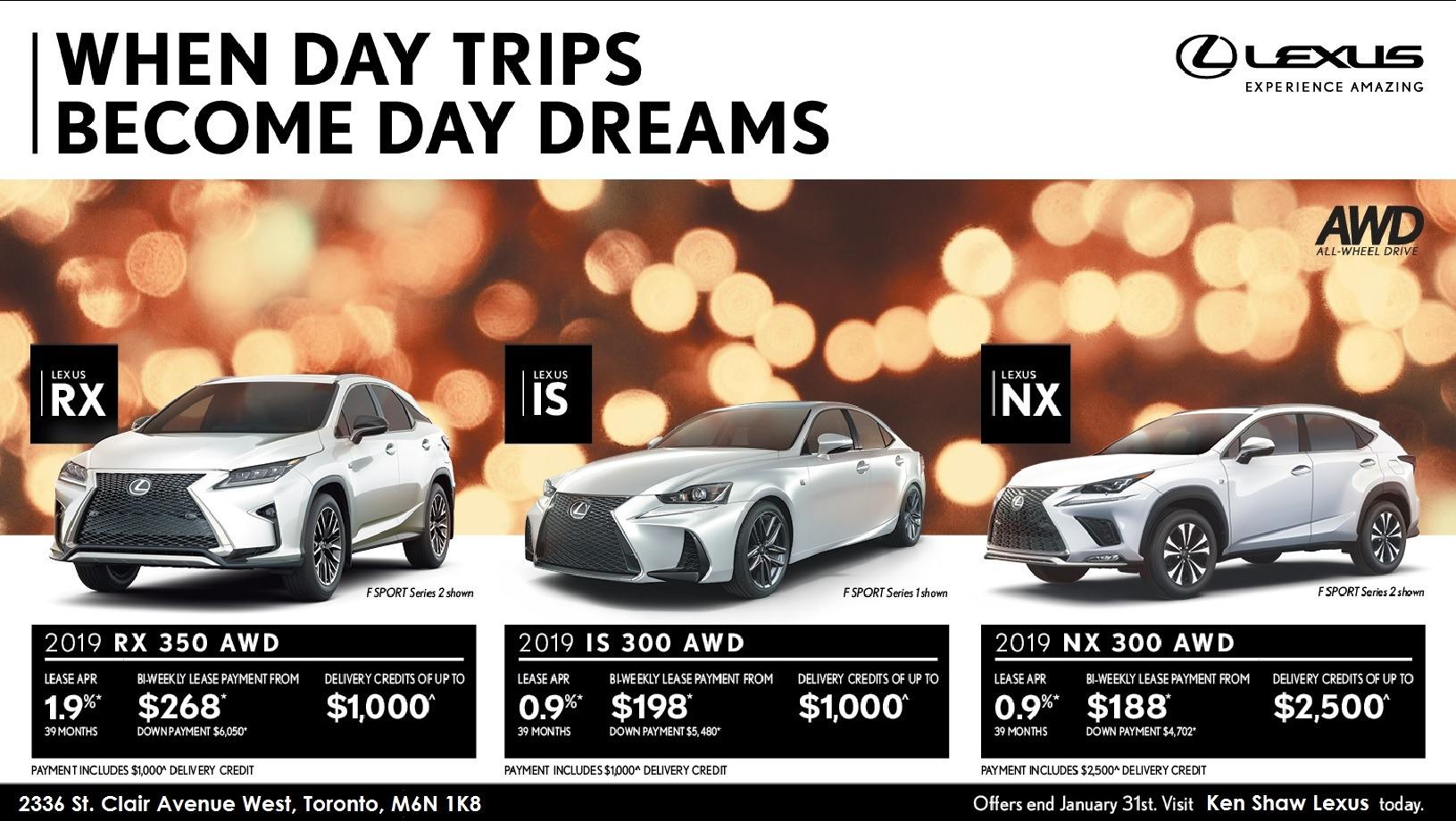 ken shaw lexus January offer new lexus vehicle promotion