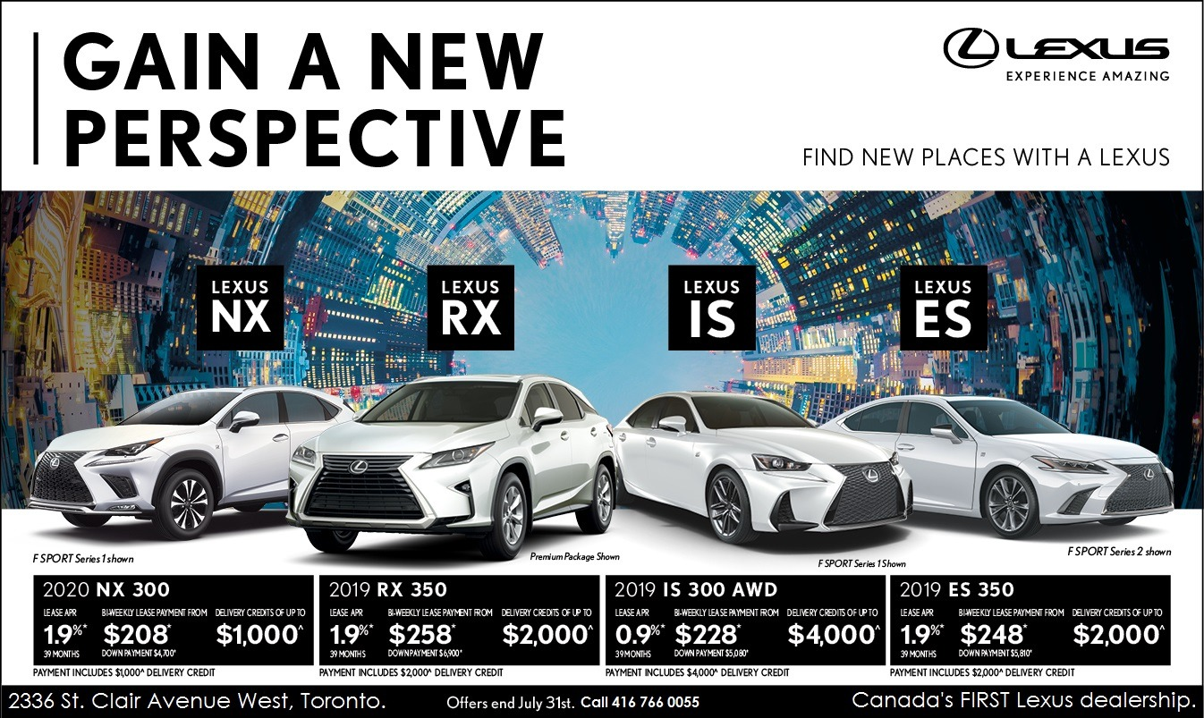 Lexus Lease Offers >> Lexus Specials At Ken Shaw Lexus Toronto Lexus Dealer On
