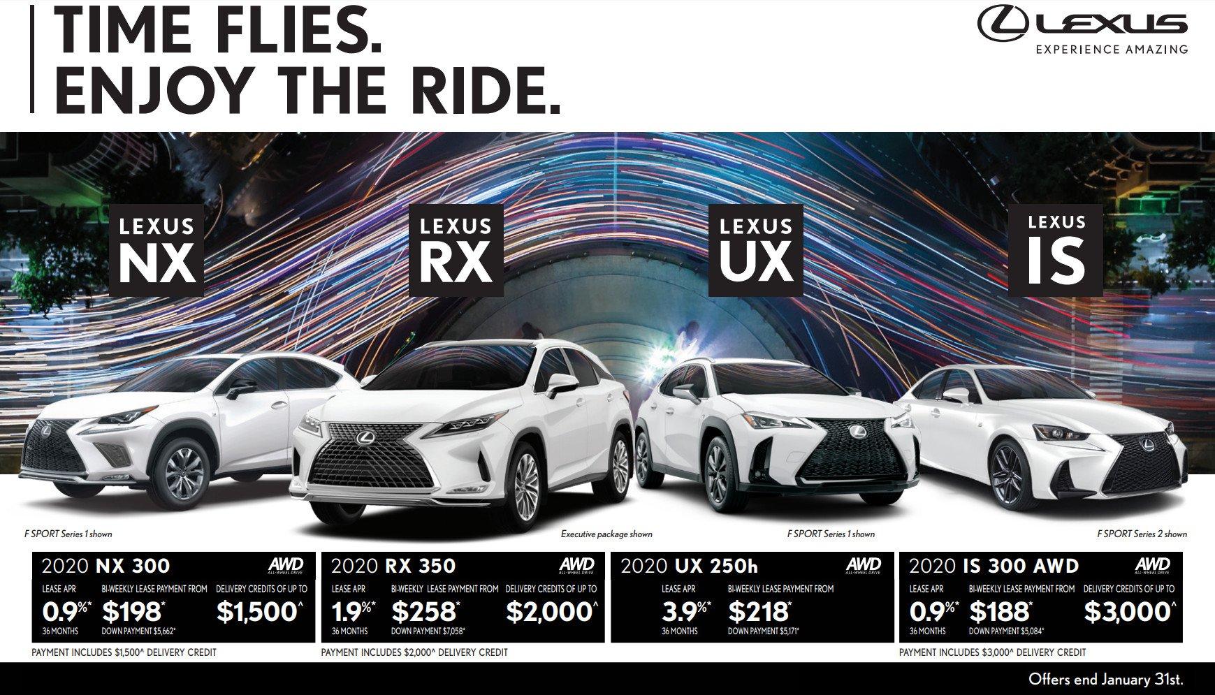 Ken Shaw Lexus January Incentives in Toronto