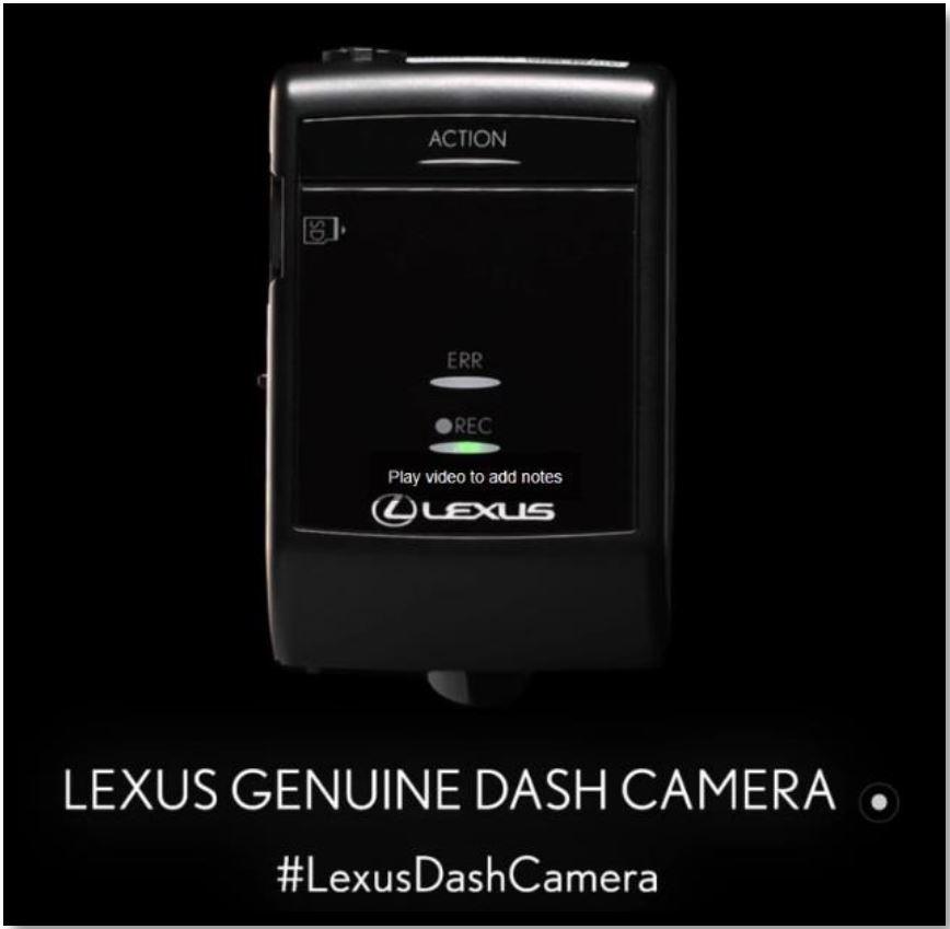 Lexus genuine accessories dash camera ken shaw lexus toronto 4