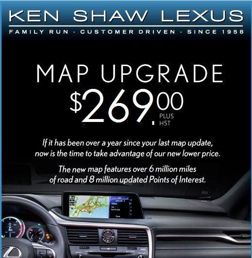 $269 Lexus Navigation Update