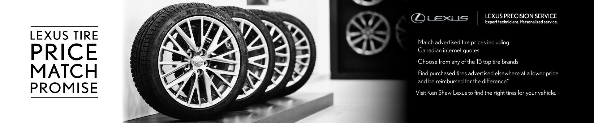 Ken Shaw Lexus Tire Price Match Promise in Toronto Ontario GTA
