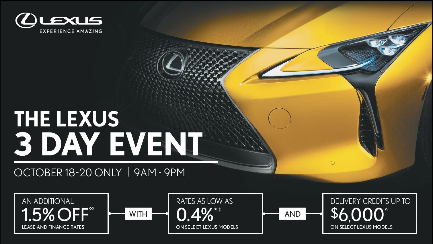 new-Lexus-Three-day-event-at-ken-shaw-lexus-toronto-ontario