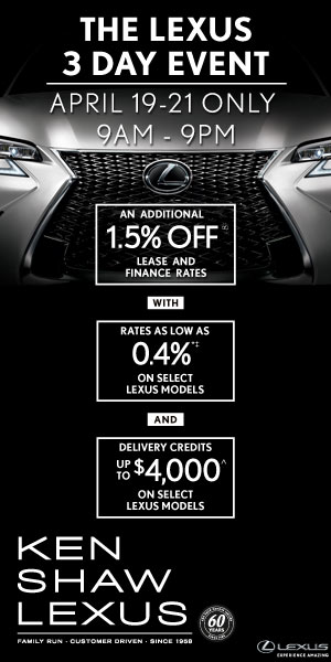 LEXUS 3 DAY EVENT | APRIL 19-21 ONLY