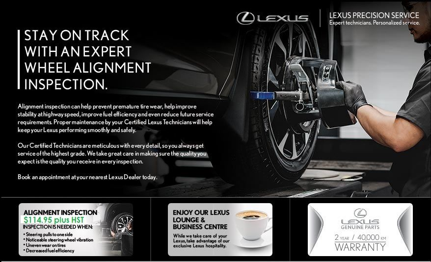 $114.95 Lexus Four Wheel Alignment