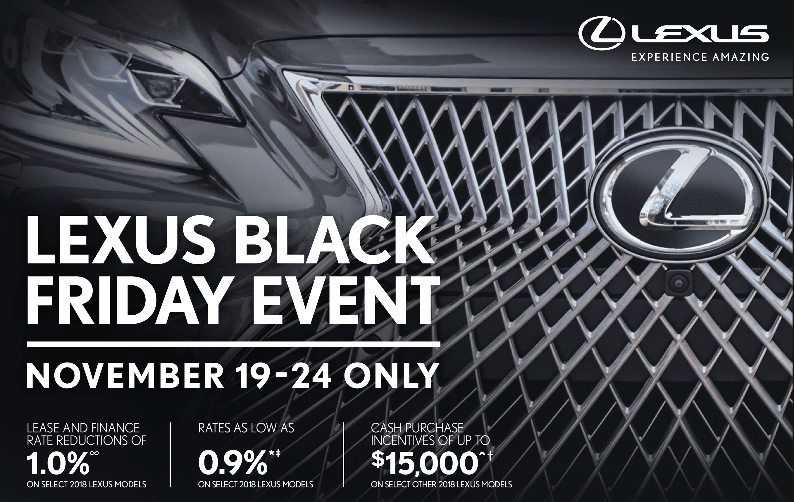 KEN SHAW LEXUS BLACK FRIDAY 2018