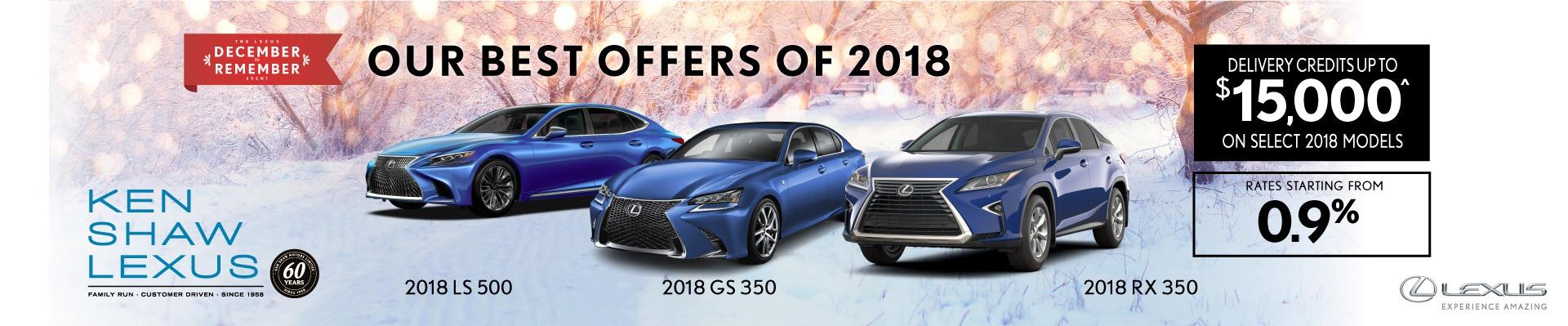 2018 Lexus vehicle offers in Toronto Ontario Toronto Lexus Dealer