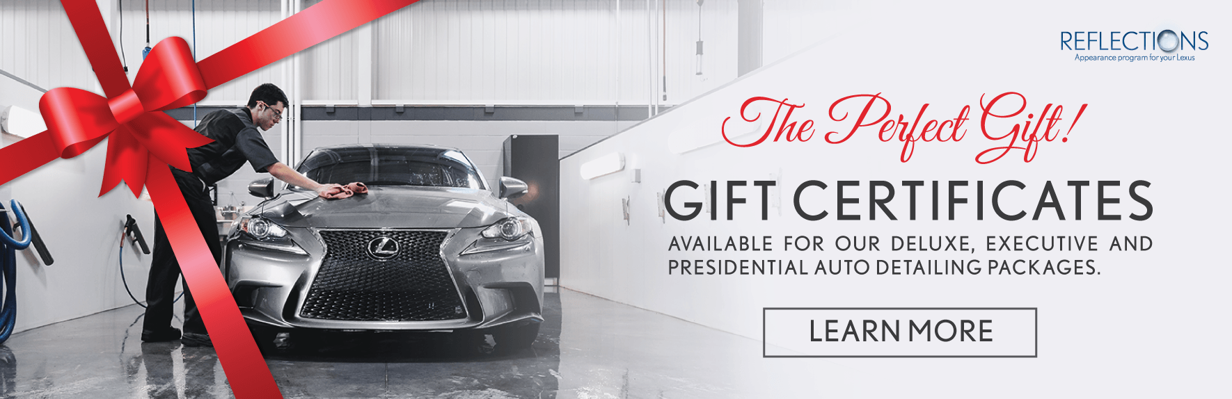 Lexus detailing in Toronto gift certificate packages