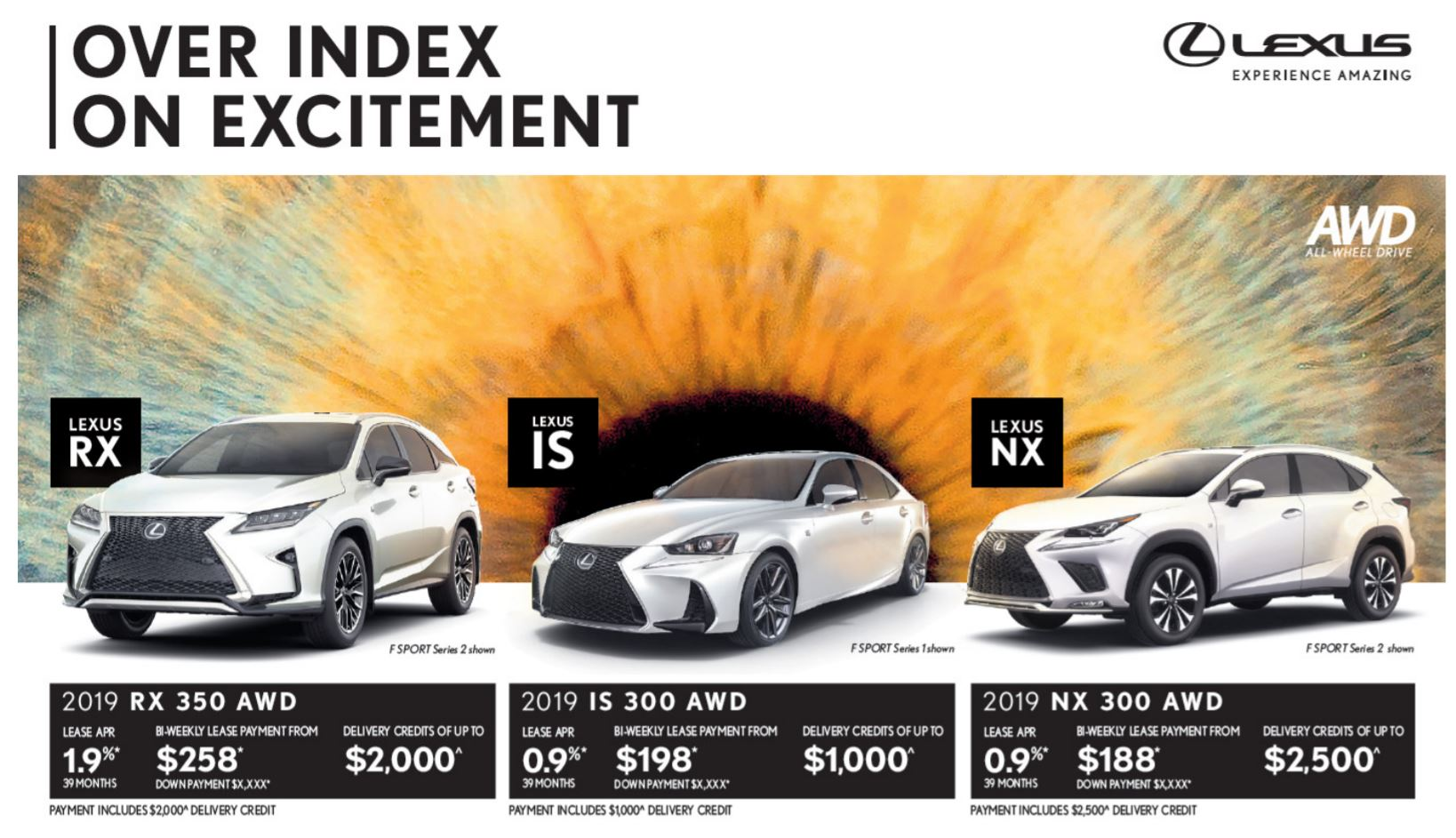 Incentives on New 2019 Lexus