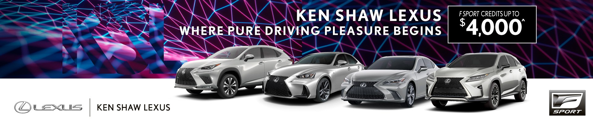 NEW F SPORT LEXUS 2019 available at Ken Shaw Lexus Toronto Ontario GTA