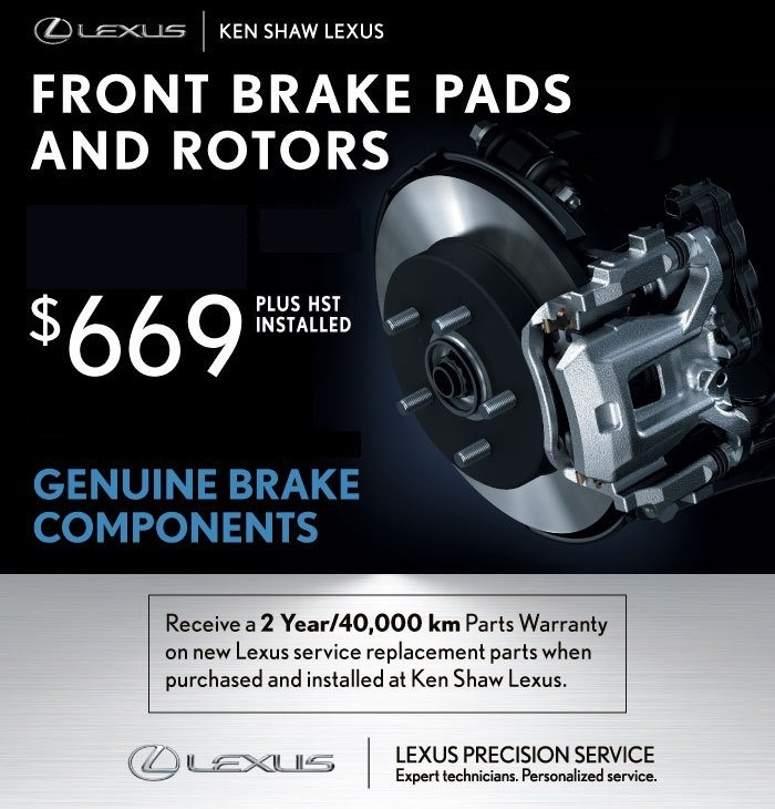 $669 Lexus Genuine Front Pads and Rotors