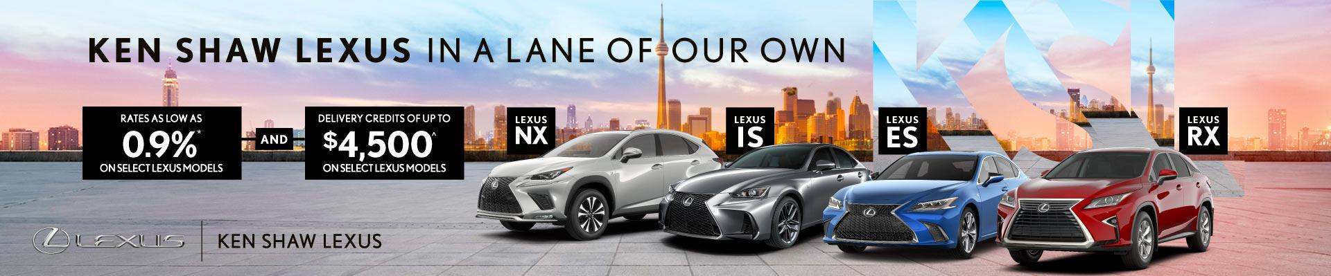 Lexus special offers promotion in Toronto Ontario GTA Ken Shaw Lexus
