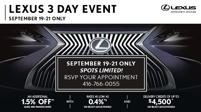 Lexus 3 Day Event