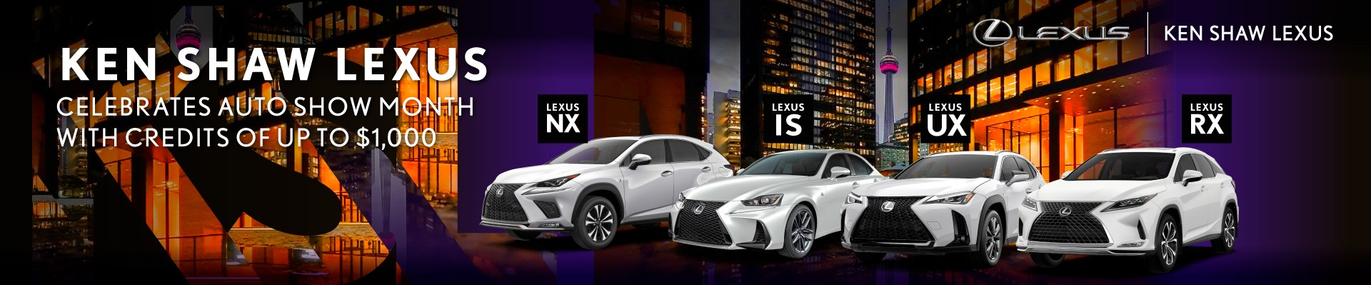Ken Shaw Lexus offers on new Lexus vehicles, lease, finance deals in Toronto, Ontario, GTA