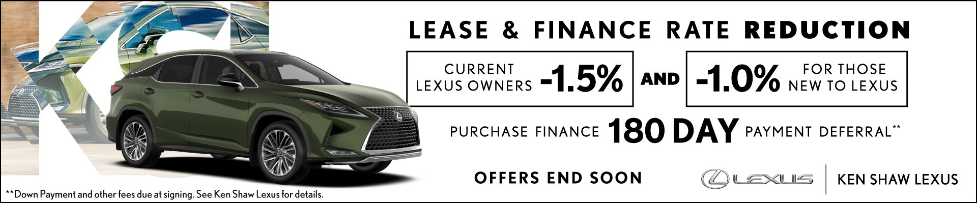 New 2020 Lexus specials promotions at Ken Shaw Lexus in Toronto, Ontario, GTA