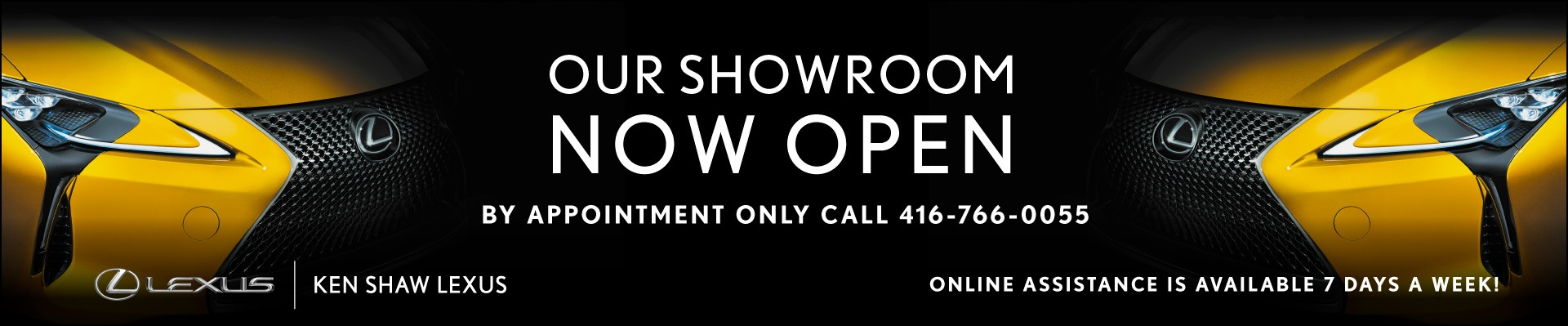 ken shaw lexus in toronto, ontario, gta showroom is open by appointment only covid-19 protocols