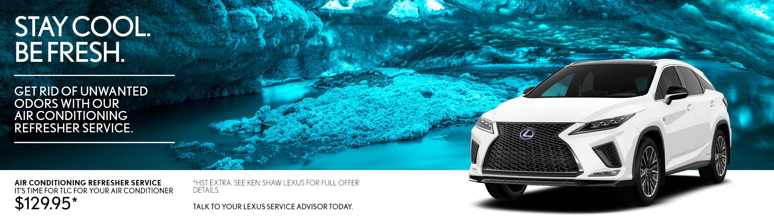 Ken Shaw Lexus air conditioning service clean air toronto, gta repair offer