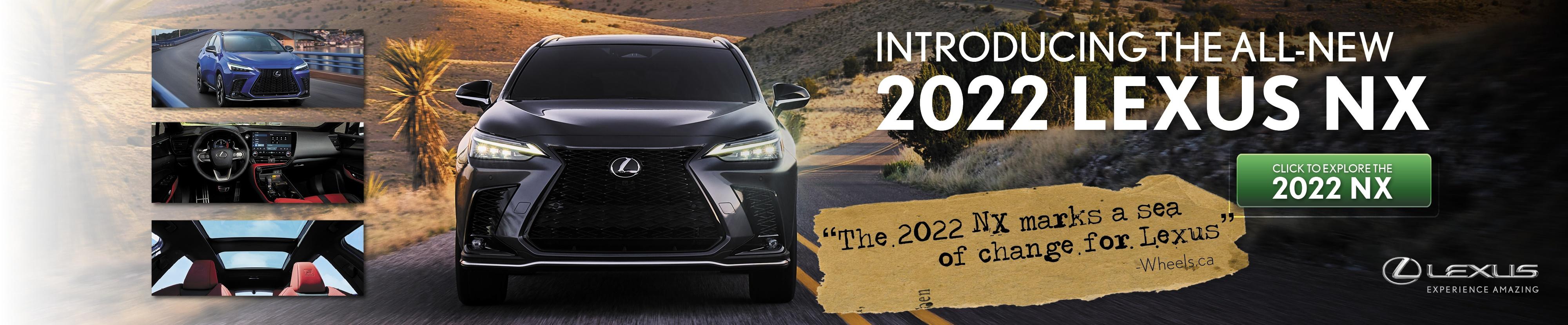 new 2022 lexus nx in toronto ontario dealership