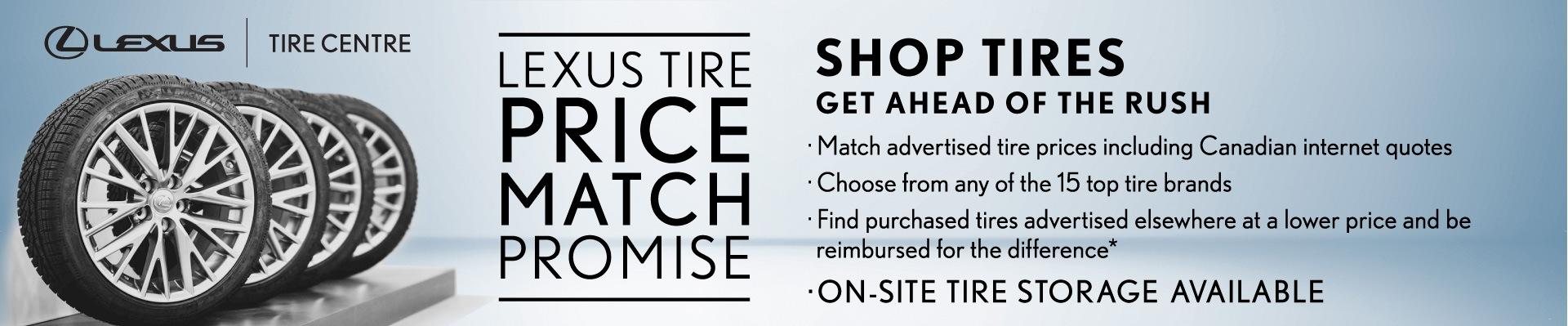 Lexus tires tire price match promise in toronto ontario gta rims winter tires costco michelin bridgestone